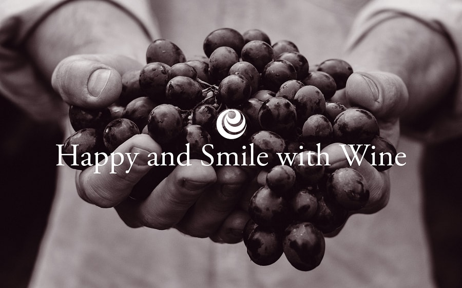 Happy and Smile with Wine